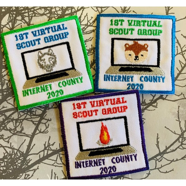 1st Virtual Scout Group Badge
