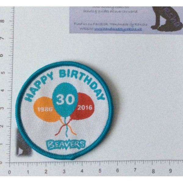 30th Beaver Birthday Badge