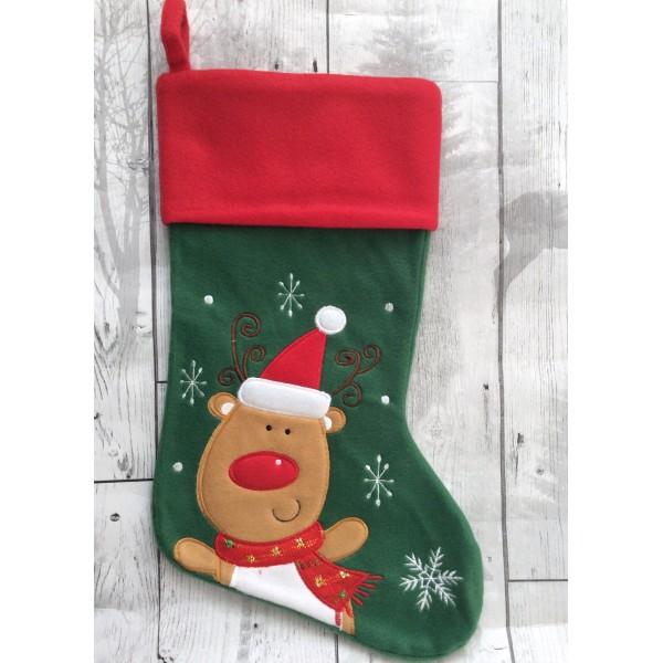 Reindeer Plush Stocking