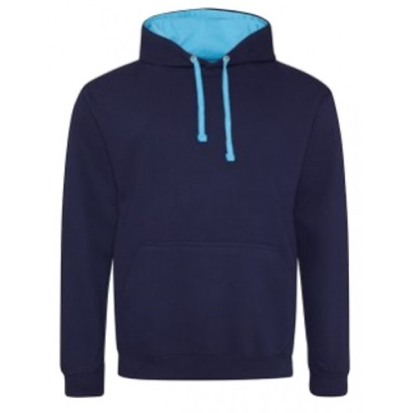 2nd Frampton Cotterell Adult Hoodie Contrast