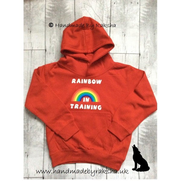 Rainbow in Training Hoodie