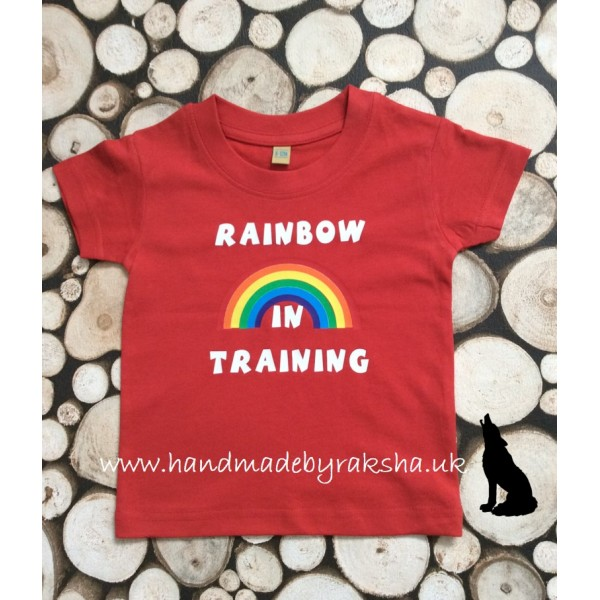 Rainbow in Training T Shirt