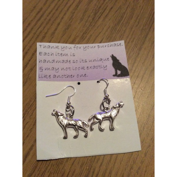 Wolf Large Earrings